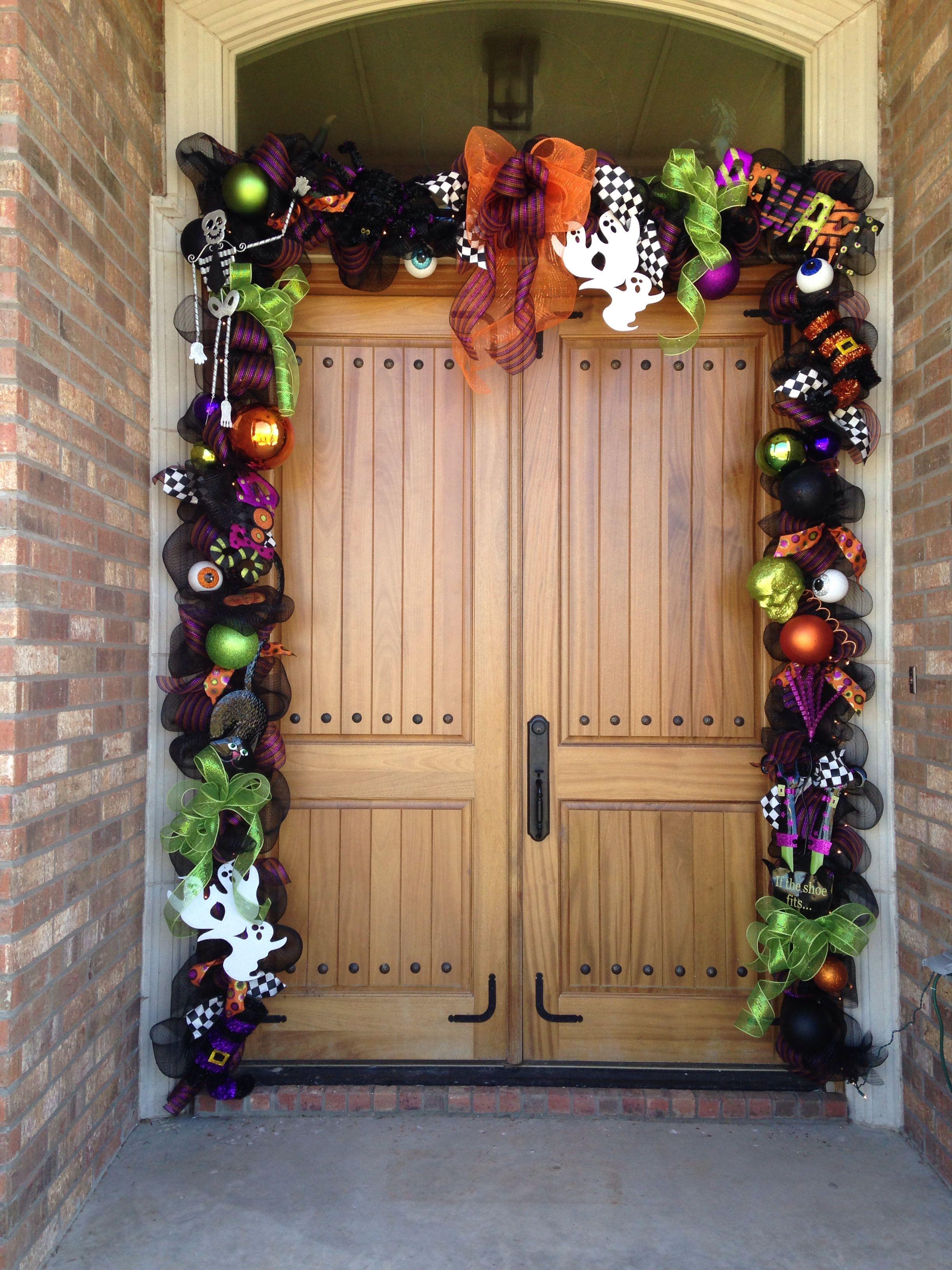 Halloween Door Garland Halloween Outdoor Decorations