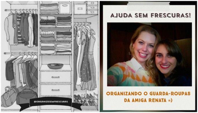 Organize sem Frescuras   Rafaela Oliveira » Arquivos » Ajuda sem Frescuras: Organizando o guarda-roupas da minha amiga Renata