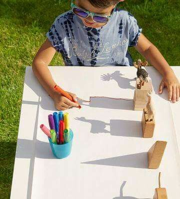 Shadow drawing | Activities for kids, Activities, Art for kids