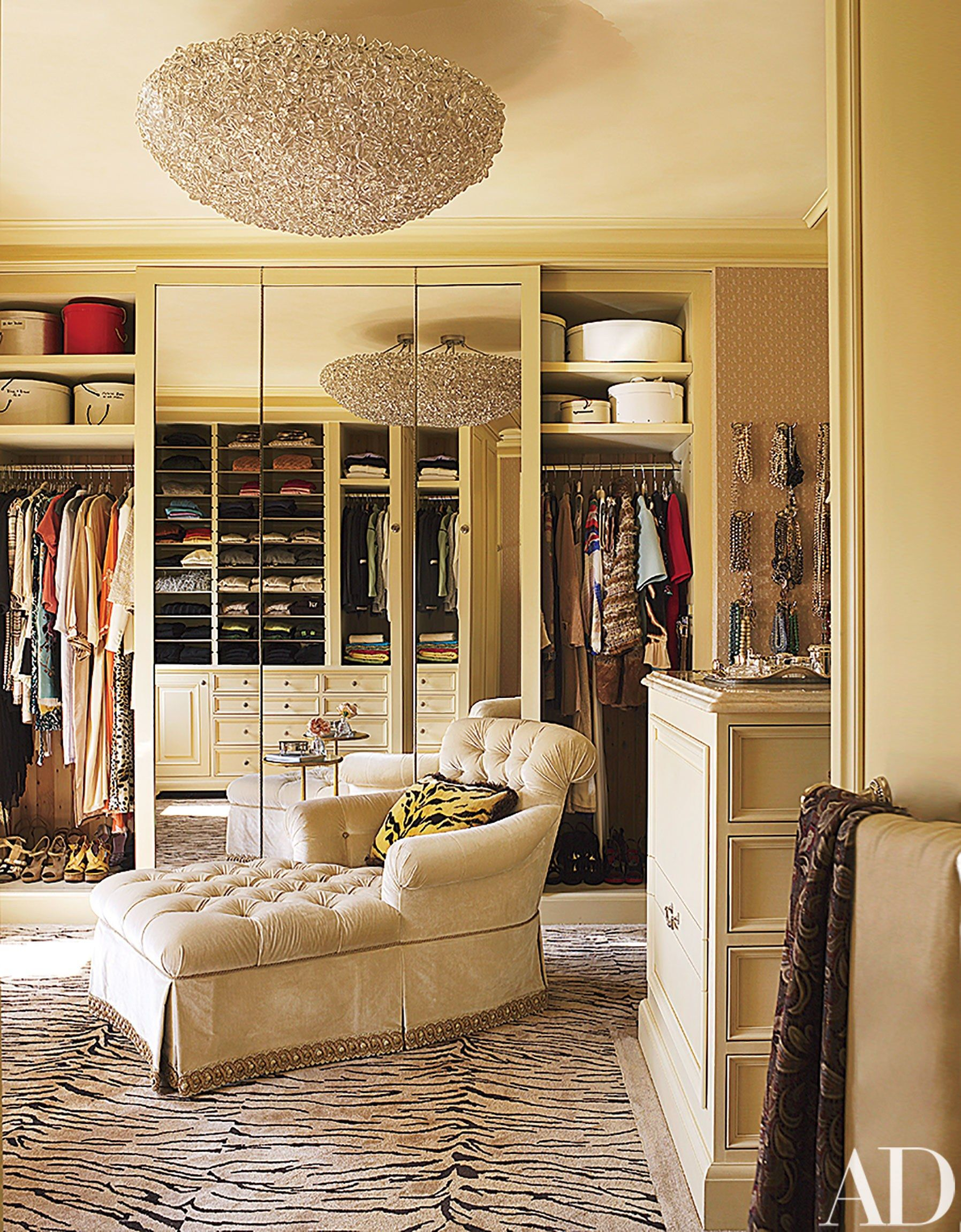 Loft bedroom with walk in wardrobe  A NeoclassicalStyle Residence in San Francisco is Refreshed with