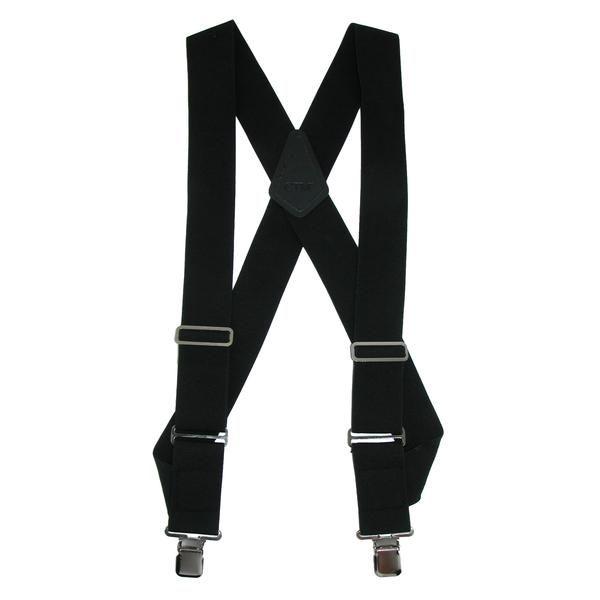 New CTM Men/'s Big /& Tall Elastic Solid Color X-Back Suspender with Swivel Hook