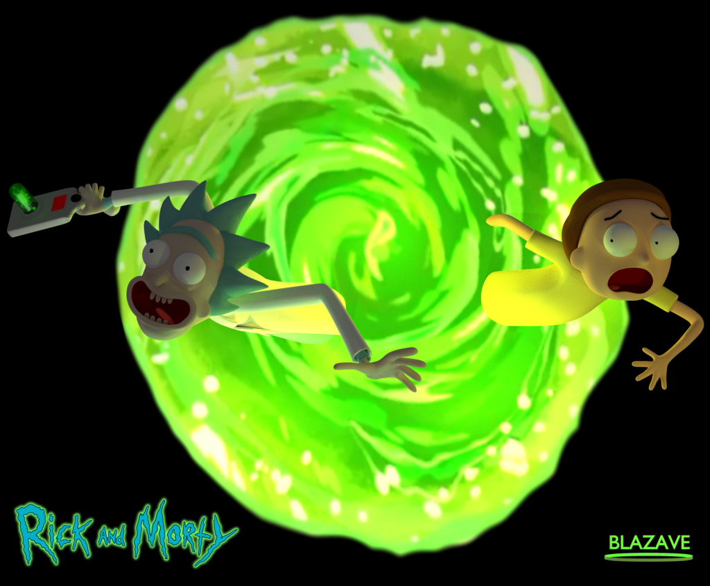 Rick And Morty Portal 4k Wallpaper From Blazave Deviantart Com