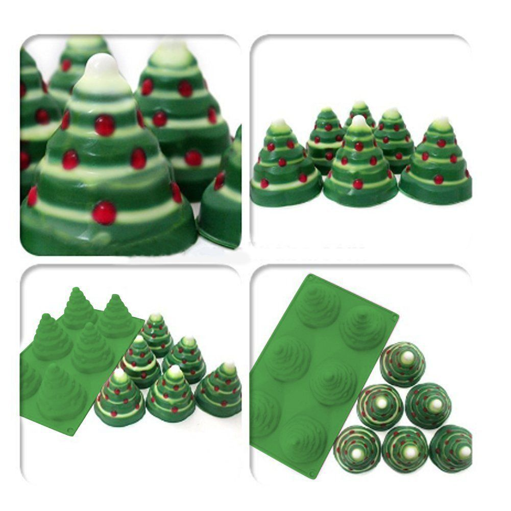 Amazon Com Mehome 3d Xmas Tree Silicone Mold Cake Mould Christmas Cookie Chocolate Baking Mold Ch Cake Molds Silicone Chocolate Cookies Fondant Christmas Cake