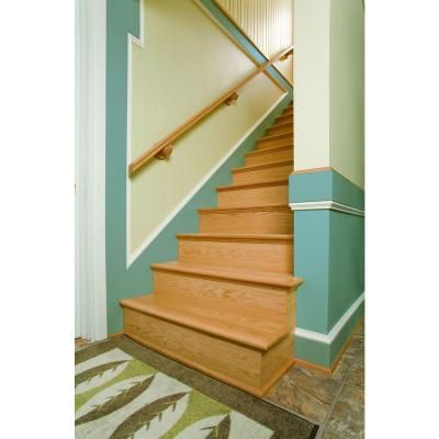 Simple Tread, In. X 48 In. Oak False Stair Tread Cap And Riser Kit, At The  Home Depot   Mobile