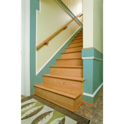 Simple Tread 11 1 2 In X 48 In Oak False Stair Tread Cap And   Oak Stair Tread Caps   Pergo Outlast   Scraped Oak   Riser Kit   Wood   Sp125 4F048C
