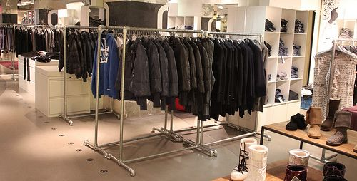 Heavy Duty Free Standing Clothing Racks Add Casters