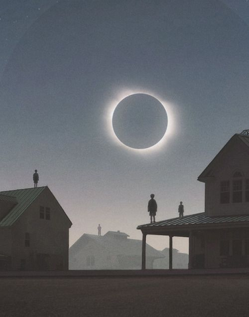 Solar Eclipse by artist Yuri Shwedoff   via Jo Lie