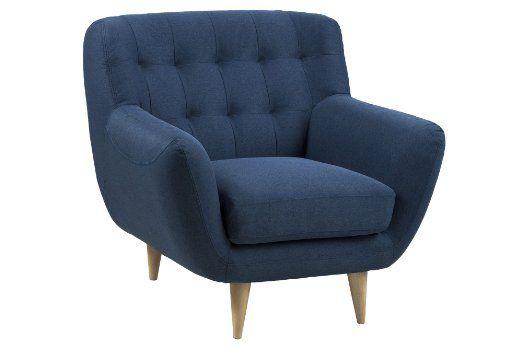 AC Design Furniture 60493 Sessel Jimmy, circa 93 x 87 x 84 cm - dunkelblaue kche