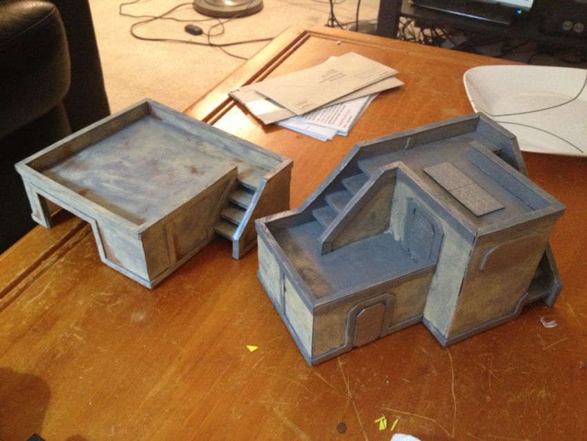 Foam core buildings  Templates available on site  | Foamcore Terrian