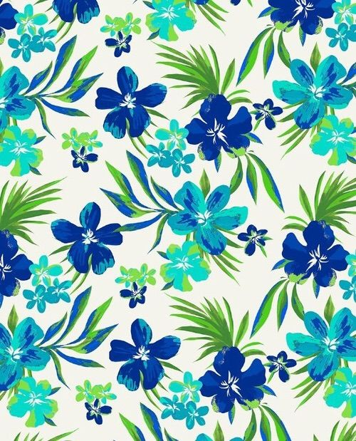Image Via We Heart It #azul #background #flores #verde