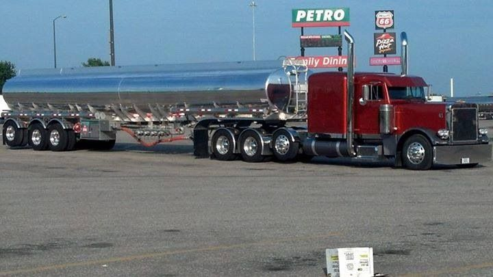 Peterbilt TriAxle tractor & very nicely designed TriAxle tank trailer, big bucks in this gasoline tanker.