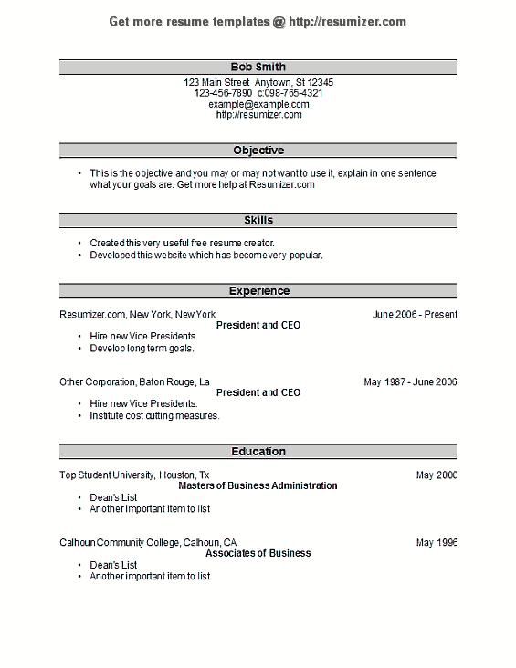resumizercom resume template style 25 - Us Style Resume