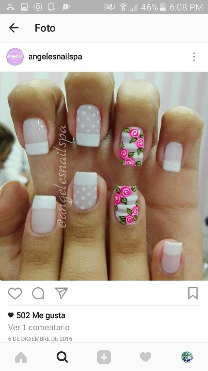 Pin de Silvana Manjarrez en diseños de uñas | Pinterest | Diseños de ...