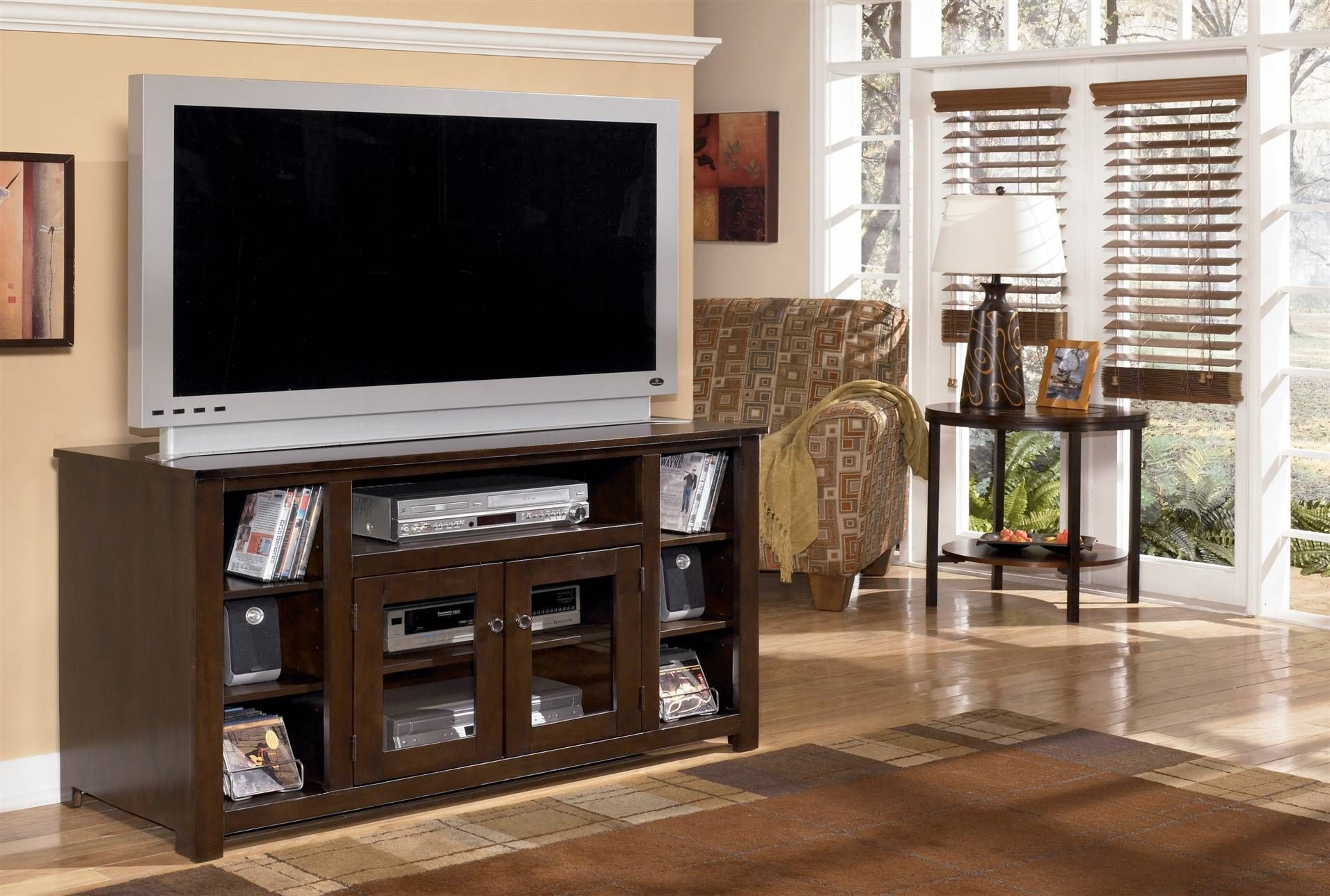 Marrion 50 Tv Stand 350 Tv Stand Dark Brown Large Tv Stands 60 Tv Stand 30 inch tall tv stand