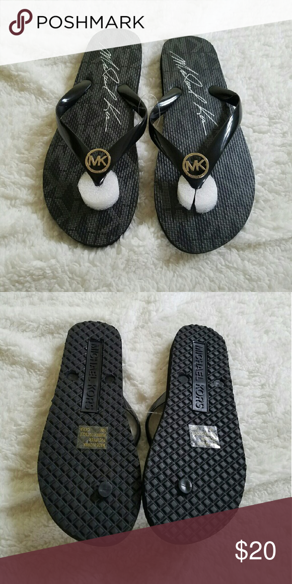 Michael Kors sandals Brand New! Black with silver MK emblem...next day shipping Monday-Friday Michael Kors Shoes Sandals