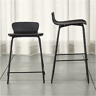 Crate And Barrel Felix Black Bar Stools Black Bar Stools Black