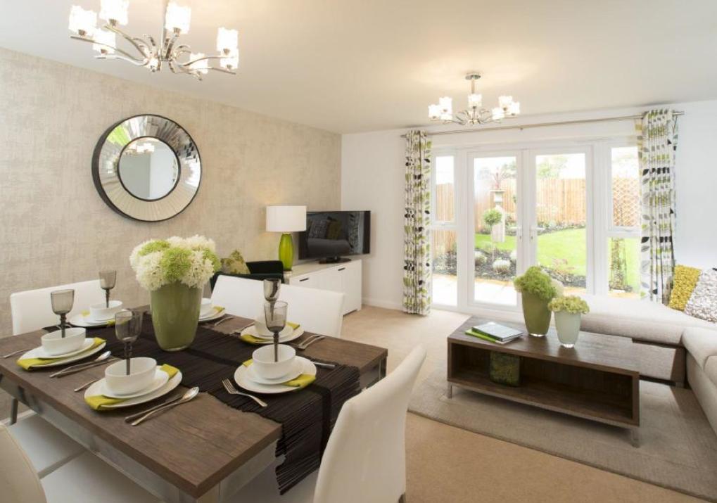 barratt homes perry wood oaks worcester interior designed living dining room - Designed Living Room