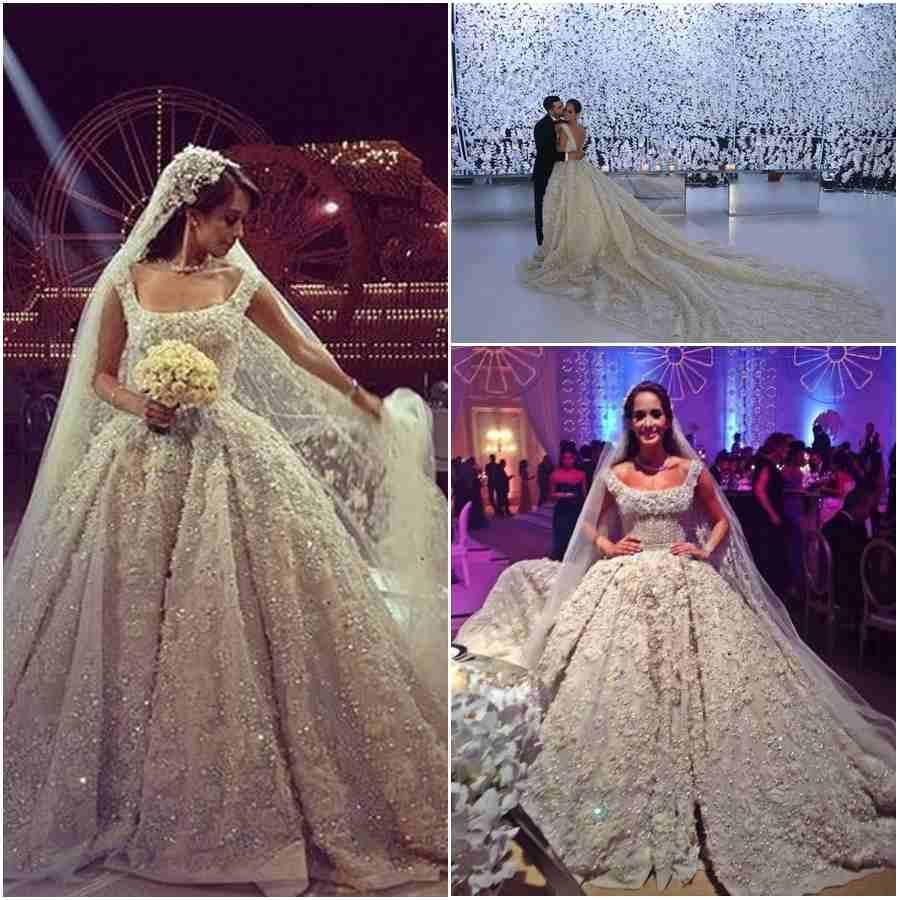 2015 high end amazing arabic wedding dresses luxury for Wedding dress in dubai