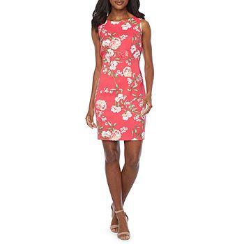 Alyx® Sleeveless Geometric Print Sheath Dress - JCPenney