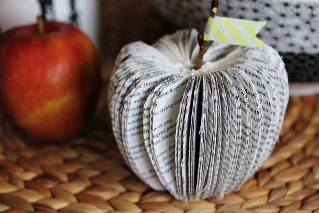 DIY paperfruit / apple / book / hallo herbst