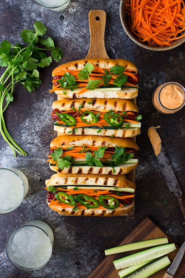 Banh Mi Hot Dogs Recipe Taming Of The Spoon On The Blog