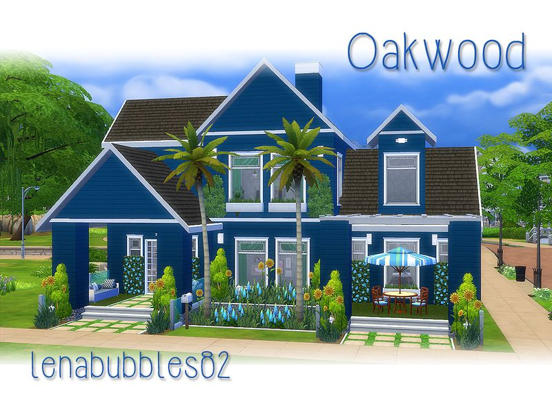 Two story home for your sim family Found in TSR Category 'Sims 4 Residential Lots'
