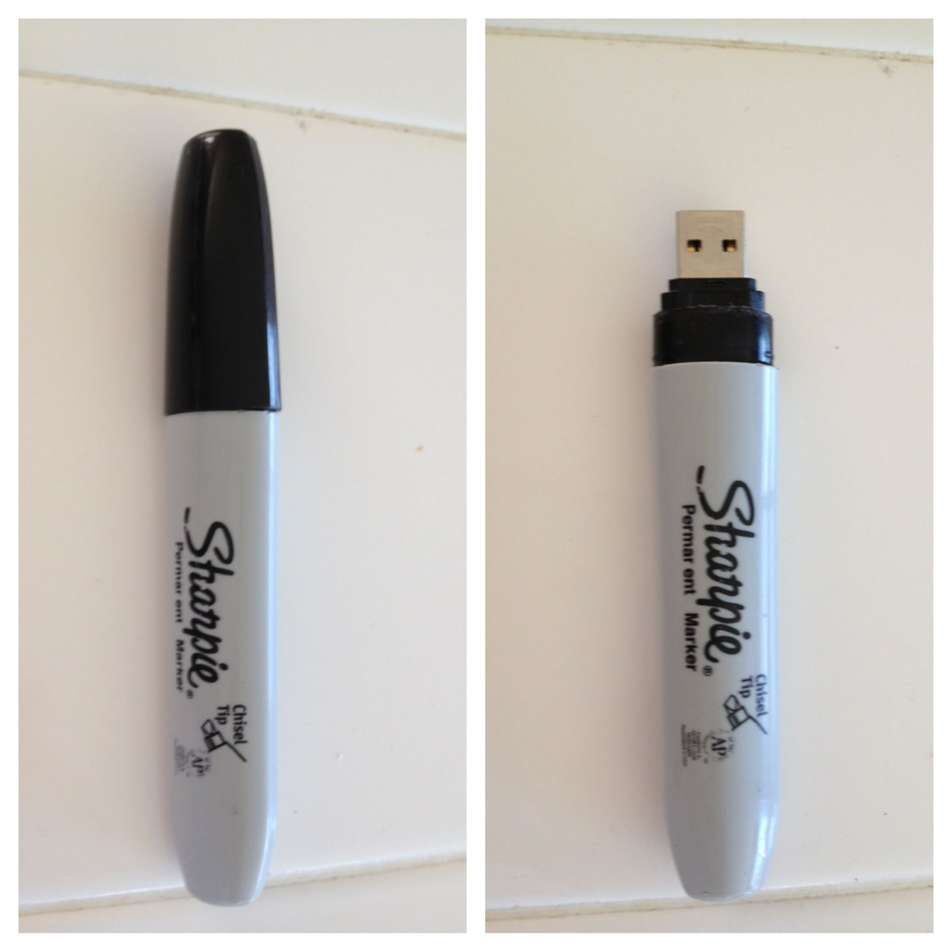 DIY USB flash drive holder. Easier to carry, harder to ...