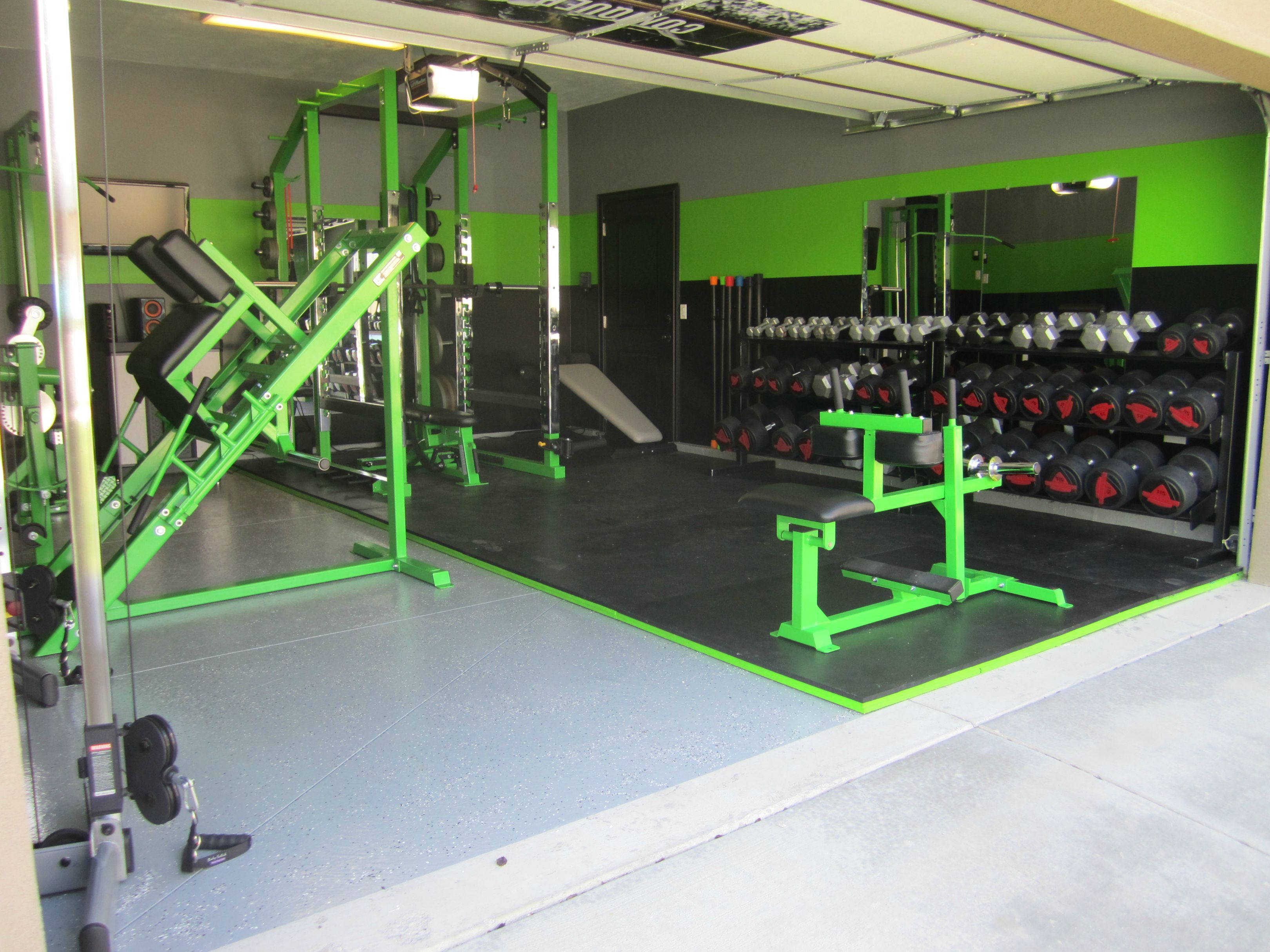 Awesome Home Garage Gym Just For The Health Of It Pinterest Garage Gym Gym And Gym Design