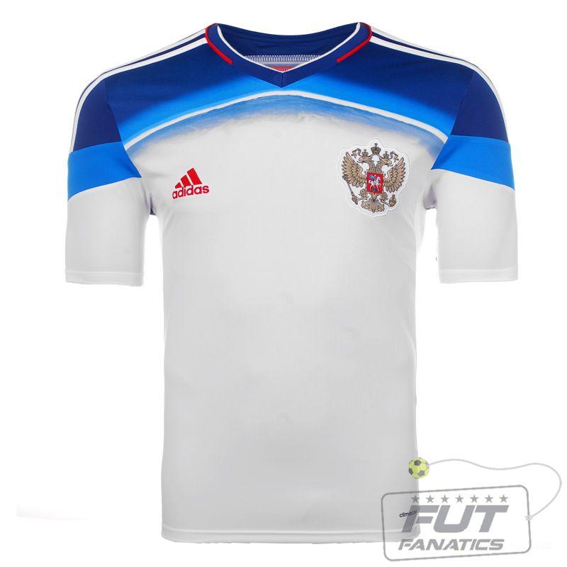 1576d1677ba5b Camisa Adidas Russia Away 2014 - Fut Fanatics - Compre Camisas de Futebol  Originais Dos Melhores Times do Brasil e Europa - Futfanatics