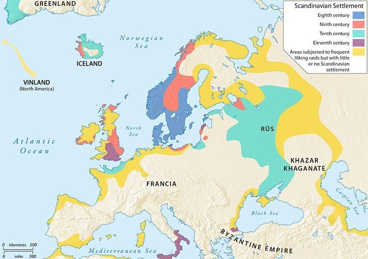 Who Are The Vikings Map Historiography Scandinavian