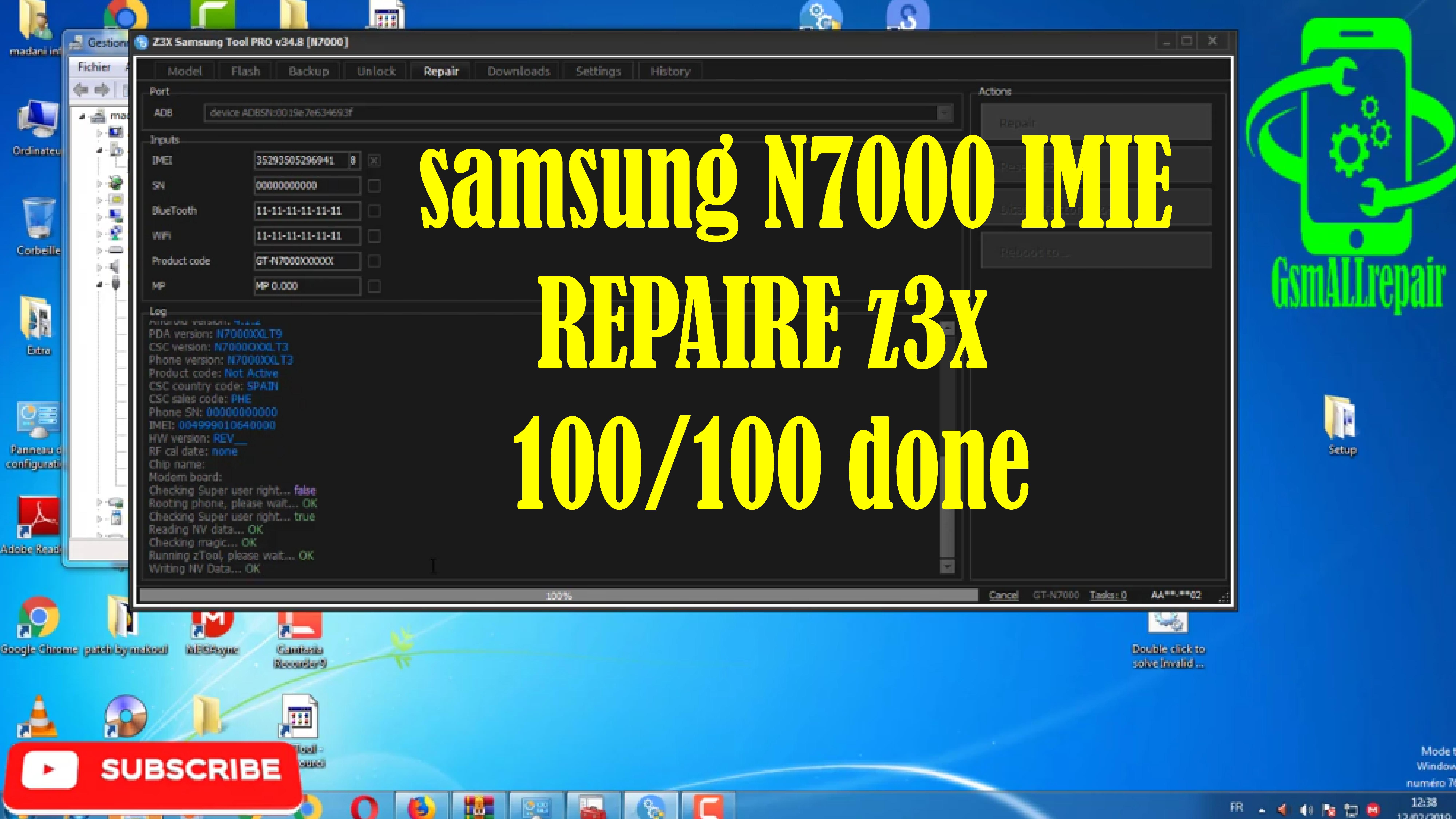 samsung N7000 IMIE REPAIRE z3x 100/100 done | repair imei