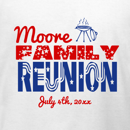 stars and stripes family reunion t shirt design