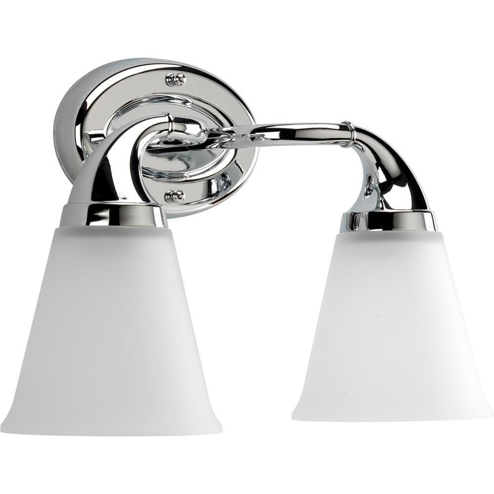 Progress Lighting Lahara Collection 2 Light Chrome Bathroom