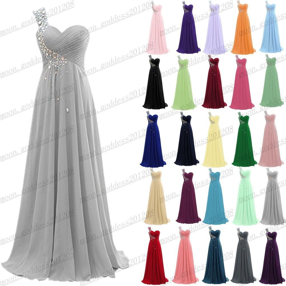 bea67405a0d59 Long Chiffon Evening Formal Party Ball Gown Prom Bridesmaid Dress ...