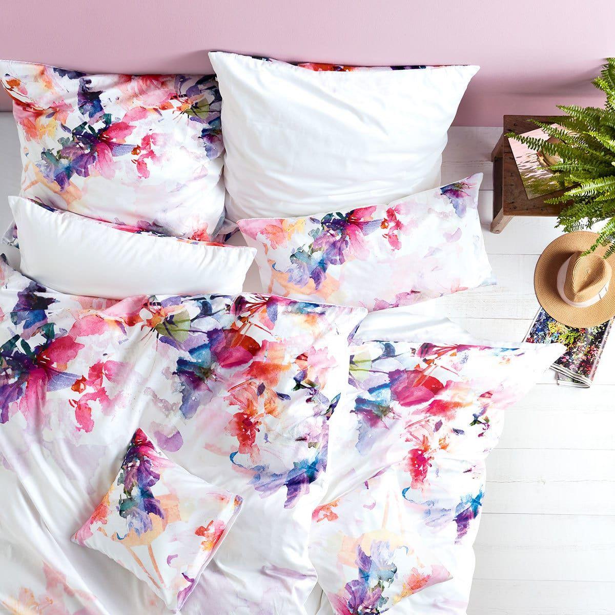 Living Dreams Mako Satin Wendebettwasche Flower Love Gunstig