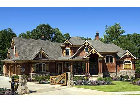 Plan 15688ge Deluxe Mountain Craftsman Dream Home Plan Craftsman House Plans Craftsman House Dream House Plans