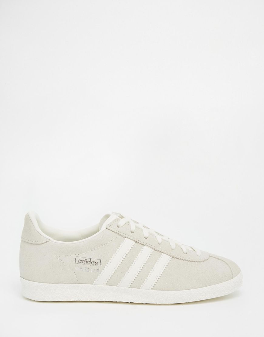 adidas Originals Off White Suede Gazelle OG Trainers at asos.com