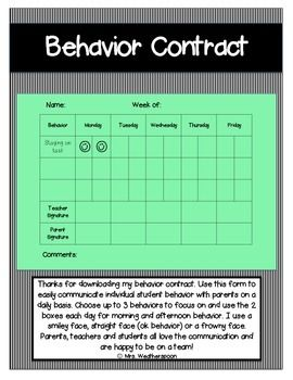 Use+this+simple+behavior+contract+to+communicate+daily+with+parents.+This+is+a+great+tool+for+your+classroom+management+toolbox!