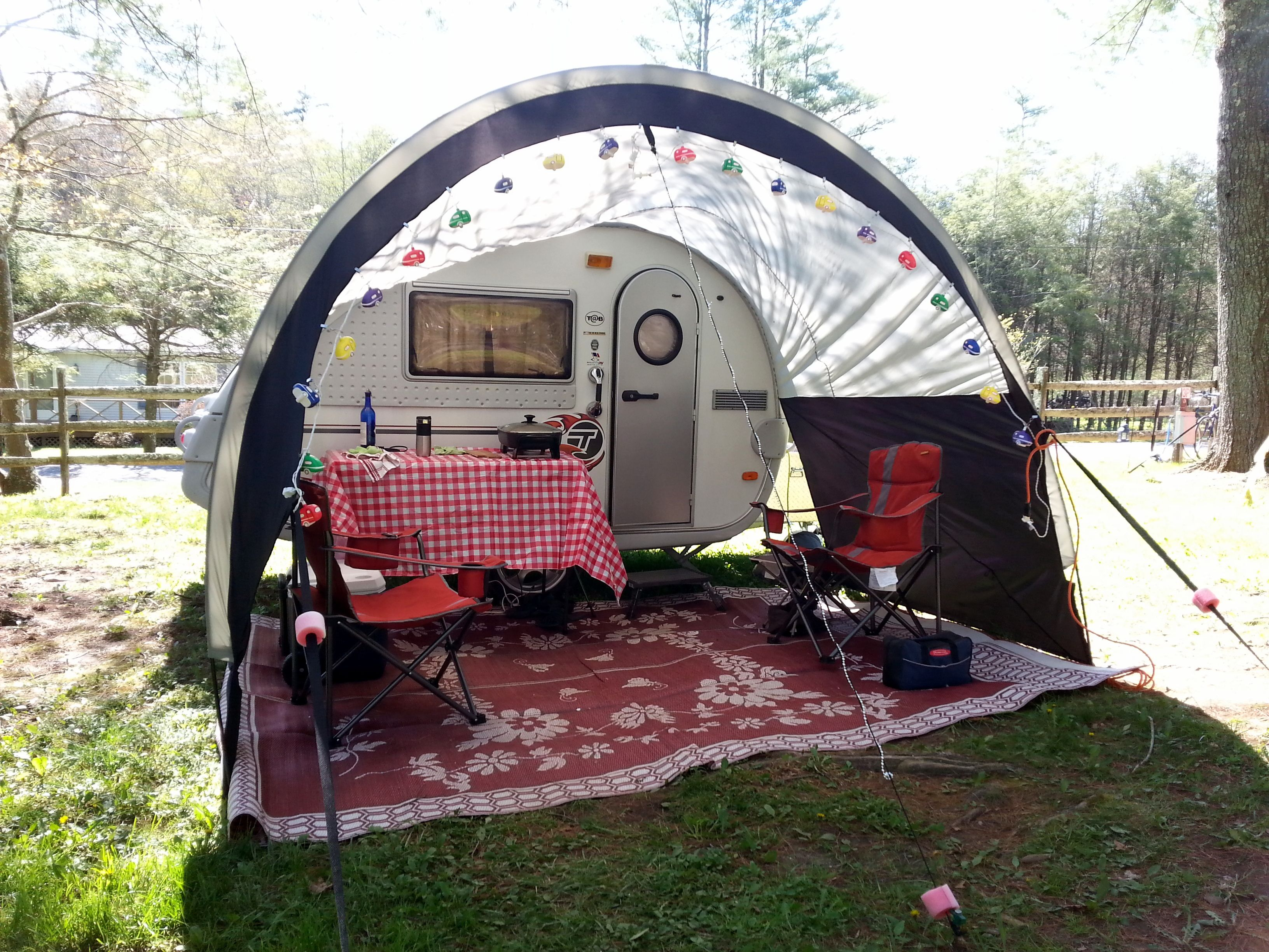 Cute setup | Teardrop campers | Rv camping recipes, Tent ...