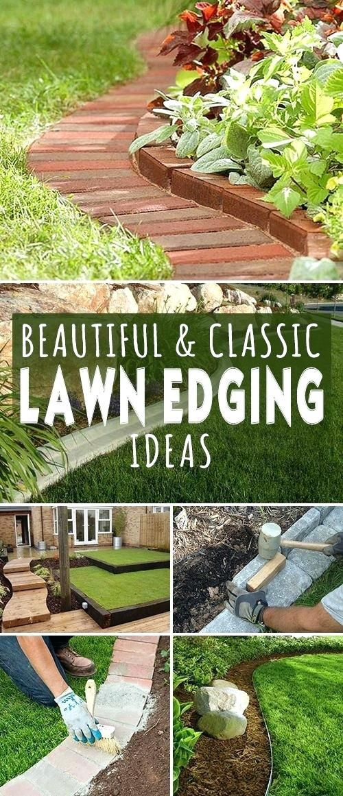 concrete garden edging ideas beautiful classic lawn edging ideas ...