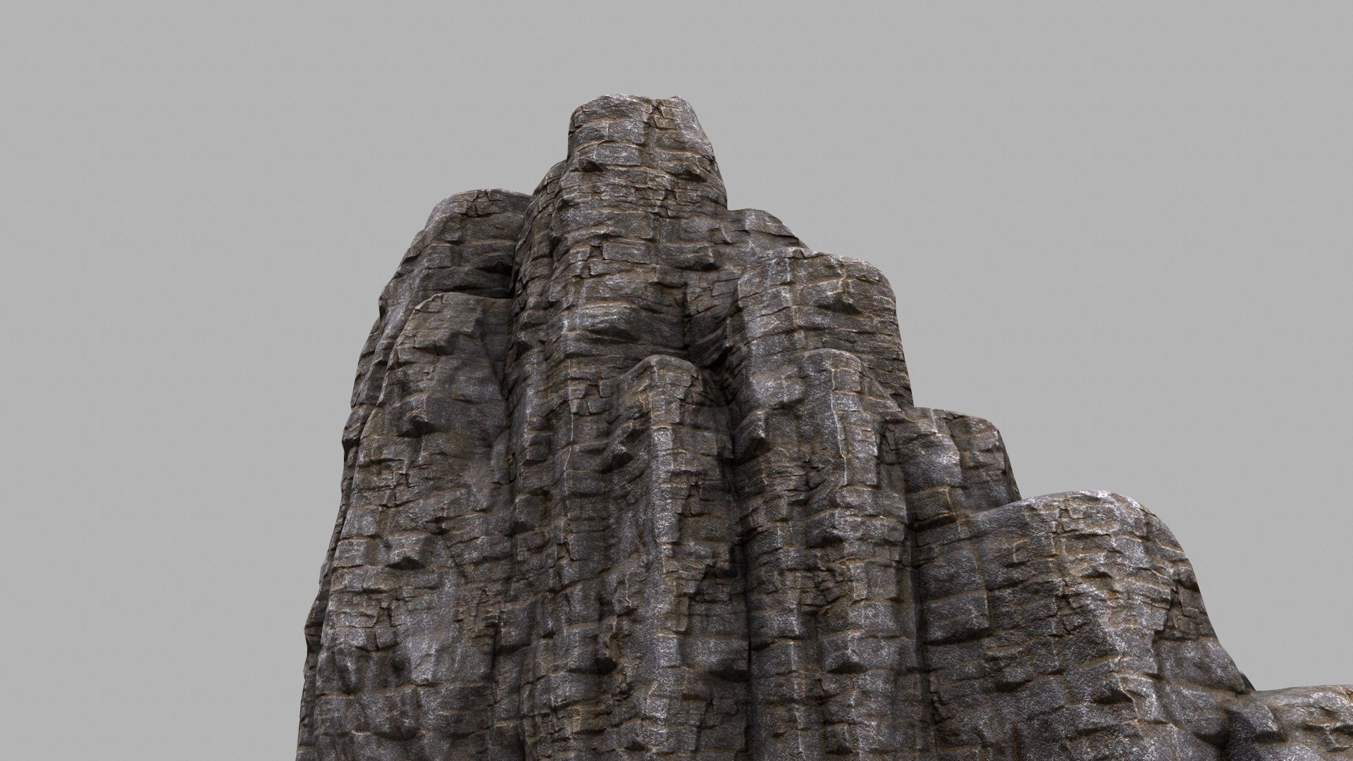 rock mountain 3d model lowpoly obj fbx stl blend 3 3d