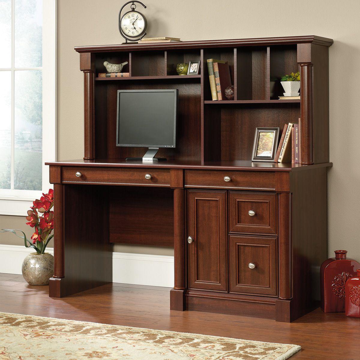 j conrad furniture sauder palladia computer desk with hutch rh pinterest com