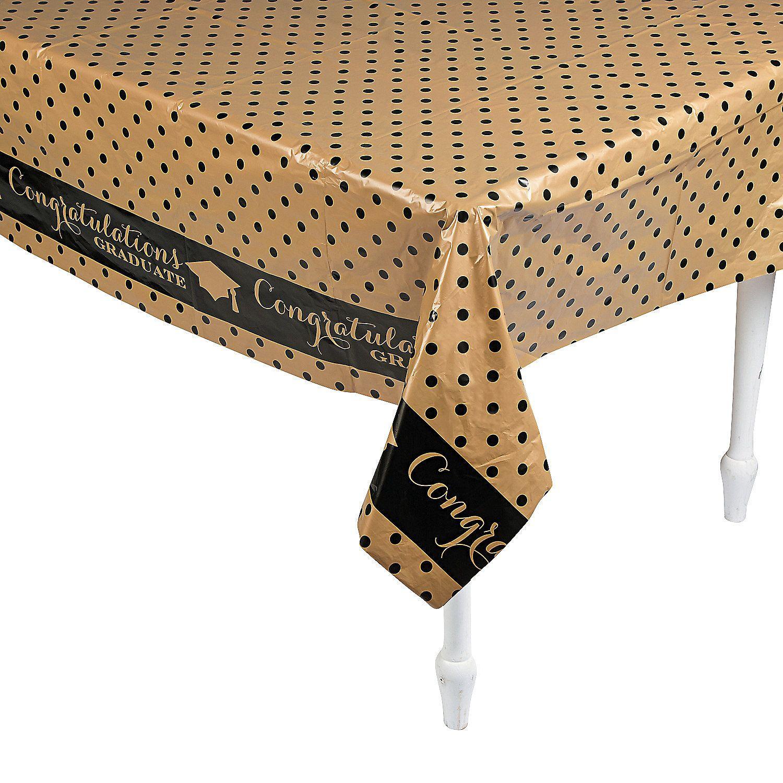 Black Gold Grad Plastic Tablecloth Oriental Trading Black Gold Jewelry Gold Tablecloth Plastic Tablecloth