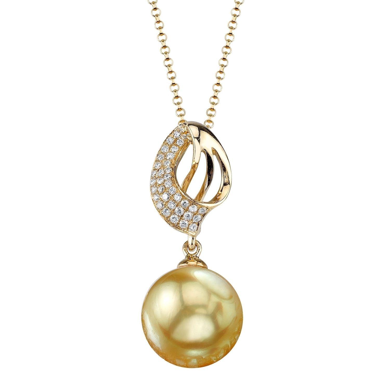 18K Gold White South Sea Cultured Pearl & Diamond Adele Pendant kx1rJn6