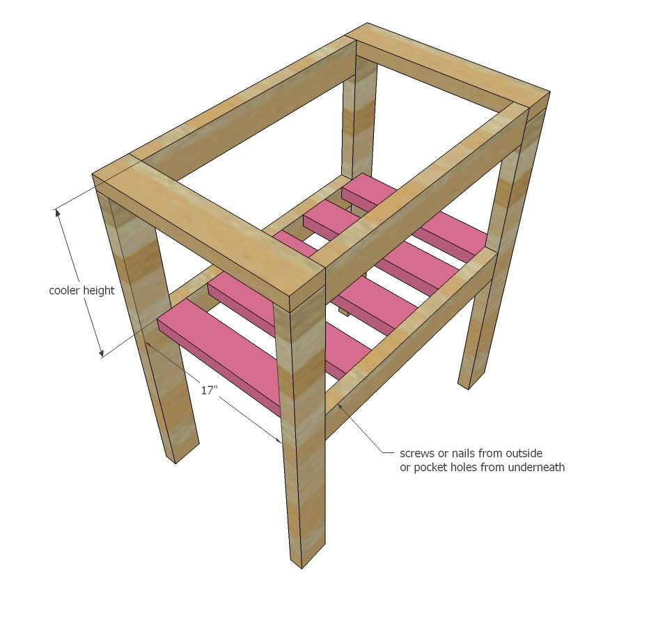 Ana white build a pallet cooler stand free and easy for Diy patio cooler