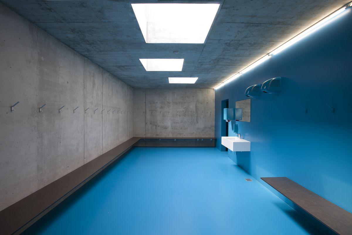 Extension Of The Multifunctional Double Sports Halls In Eichi Centre Niederglatt L3P Architects School ArchitectureInterior
