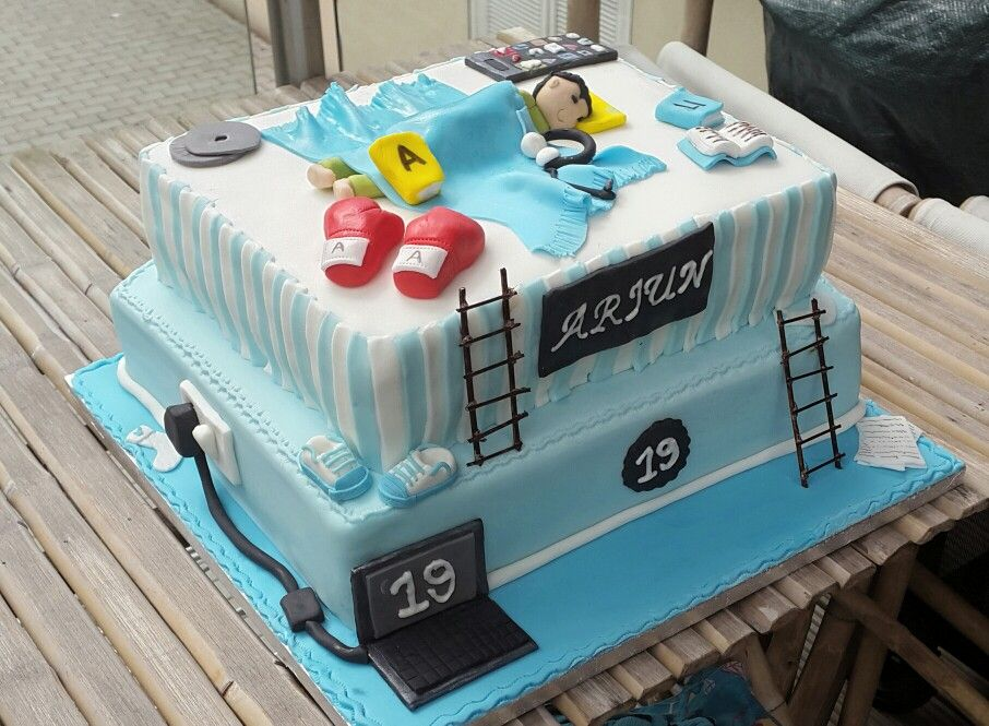 19 Birthday Cake Lazy Boy Bed Theme With Images 19th Birthday