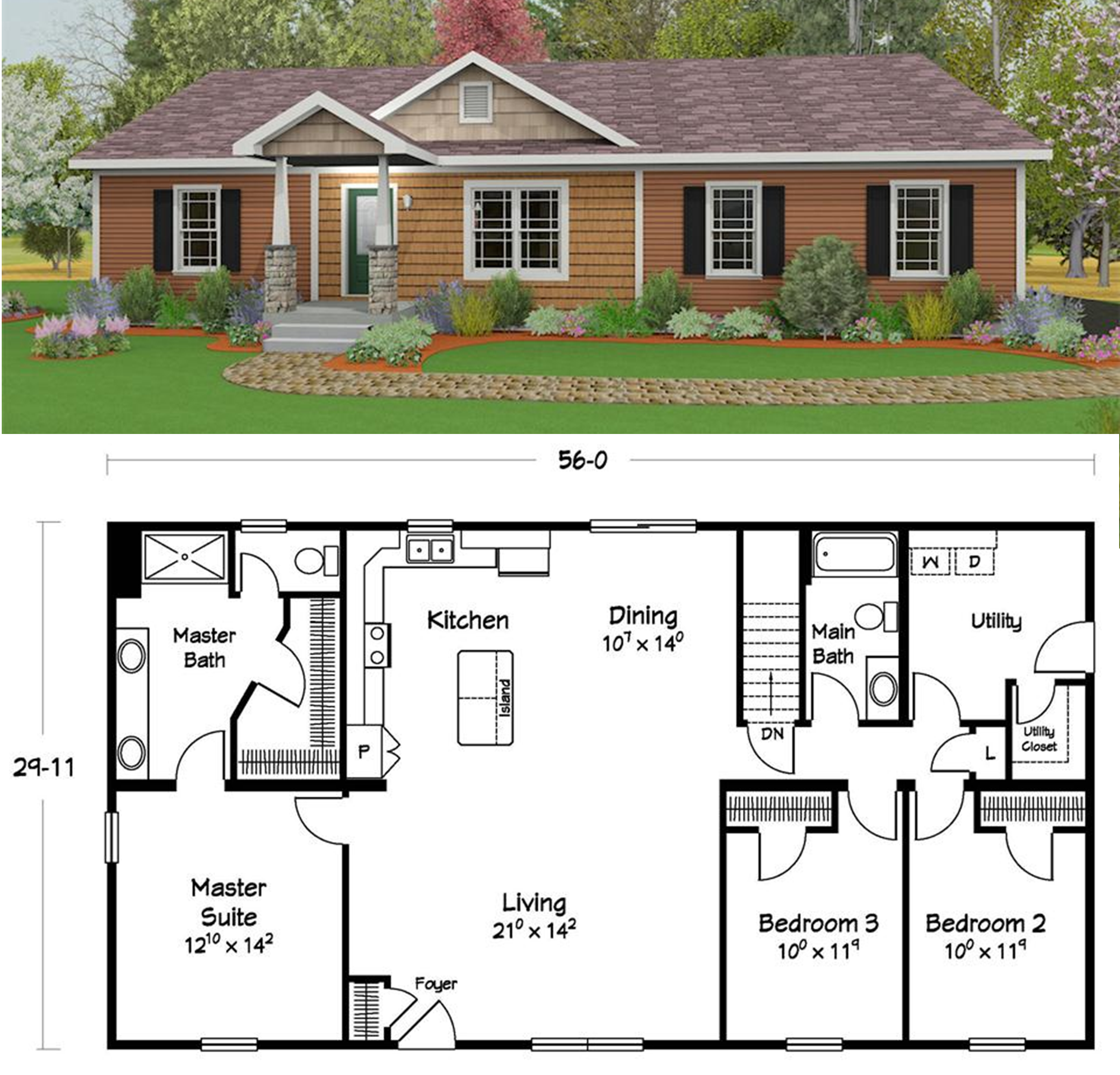 Custom Home Designs: One Of Our Most Popular Plans.