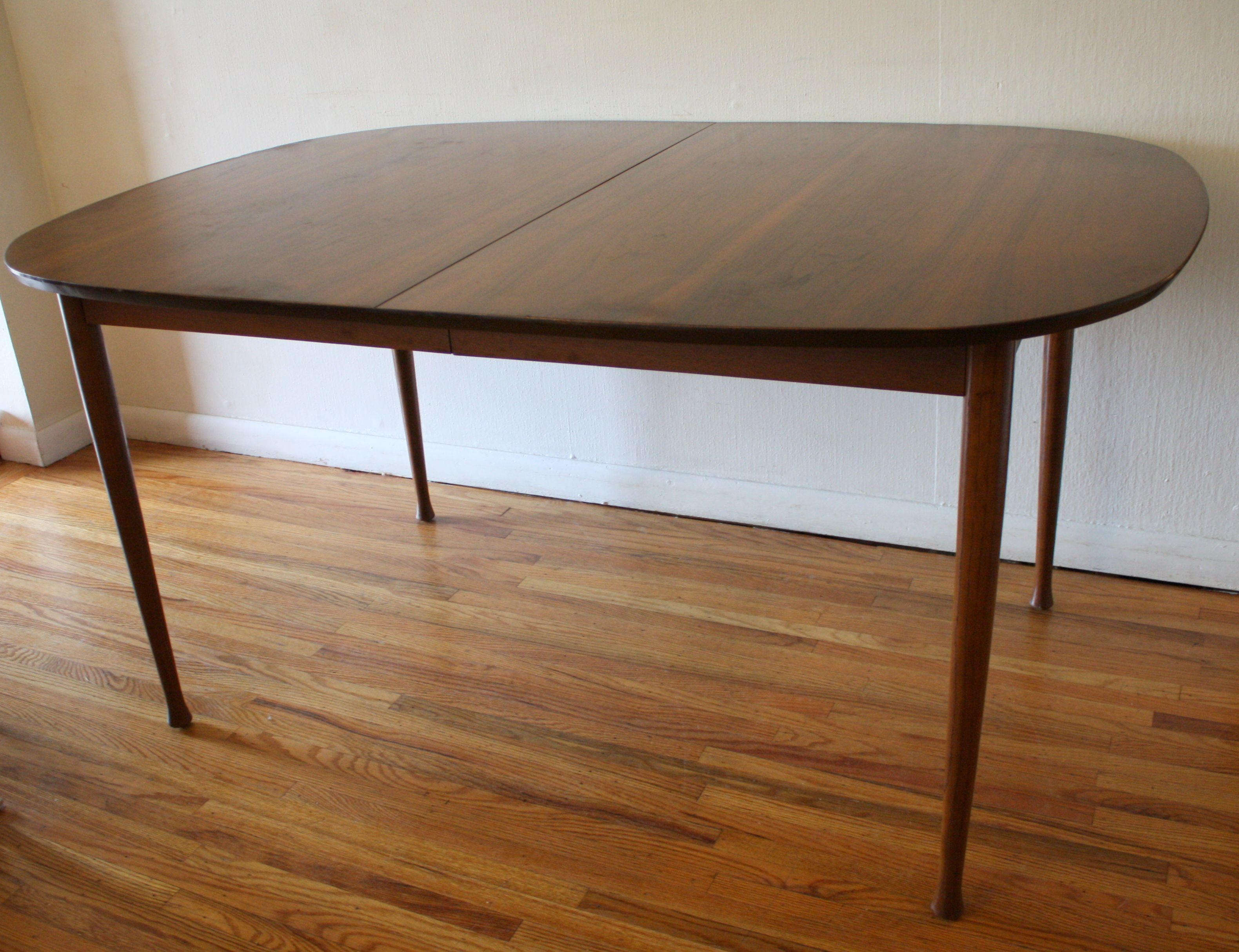 Mid Century Modern Dining Table With Built In Hidden Extension Delectable Dining Room Tables With Leaves Design Ideas