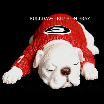 Uga Resin Georgia Bulldog 1 Yr Old Puppy Figurine Ebay Bulldog